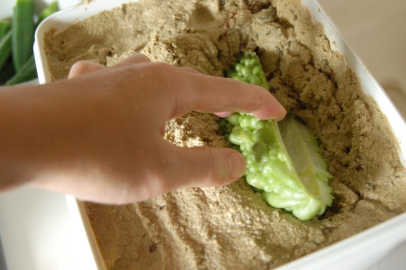 野菜をつっこむ