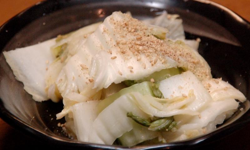 白菜のぬか漬け、ゴマ風味