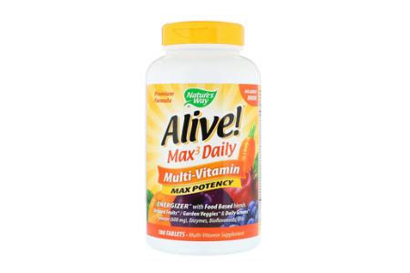 Alive!  マルチビタミン/各種ビタミン・ミネラル、消化酵素、オメガ3、植物性カプセル、60日分、3500円前後