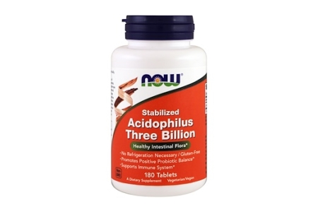 Now Foods, 安定化アシドフィルス菌、30億個、180錠