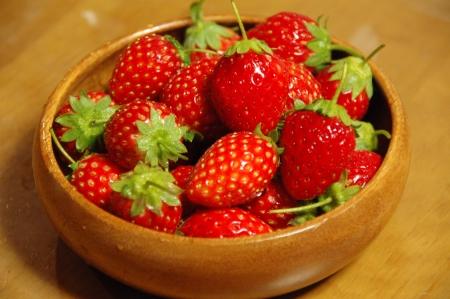 有機栽培のイチゴ